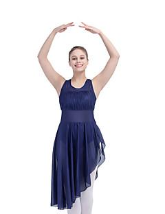 라틴 댄스 드레스 여성용 / 아동용 성능 나일론 / 라이크라 1개 민소매 드레스 / 긴 소매의 몸에 착 달라붙는 원피스
