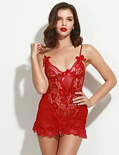 Női Ultra szexi Hálóruha,Sexy CsipkeVékony Csipke Szín Rózsaszín Barna Szürke
