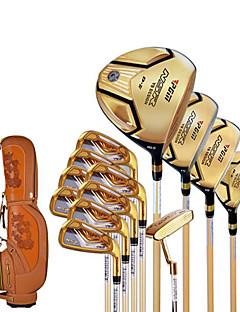 golf iniciantes clube haste de ouro / bolso ouro negro golfe bar homens de alta resistência