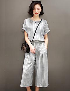 2017 kevään ja kesän uusia Miss Han kielto hoikka temperamentti rento kaksiosainen puku leveä jalka housut muoti