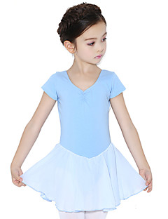Μπαλέτο Φορέματα Παιδικά Εκπαίδευση Βαμβάκι Σούρες 1 Τεμάχιο Κοντομάνικο Φυσικό Φόρεμα