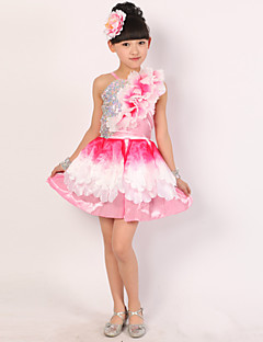 私たちはラテンダンスドレス子供のパフォーマンス花(s)4個