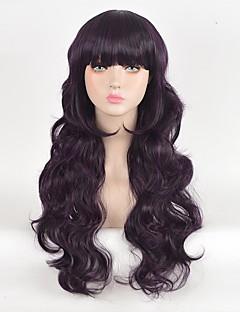 Cosplay Wigs Cardcaptor Sakura Tomoyo Daidouji Purple Long Anime Cosplay Wigs 70 CM Heat Resistant Fiber Female