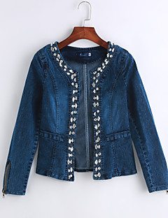 Mini - Denim - Casual - Vrouwen - Top - Lange mouw