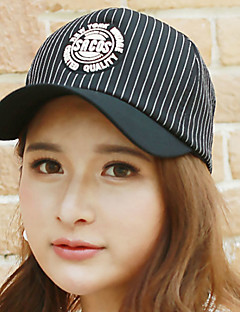 Unisex Cotton Summer Striped Printing Rounded Baseball Cap