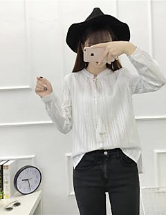 firmare 2017 nuove donne camicia del pullover coulisse camicetta cotone jacquard selvaggio