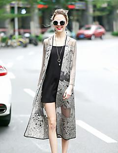 Alkalmi Csinos Utcai sikk Sálhajtóka-Női Cloak / Capes,Egyszínű Tavaszi Nyár Hosszú ujj Hosszú Selyem