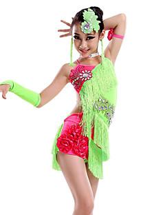 우리는 라틴 댄스 드레스 아이 댄스 의상 귀걸이해야한다