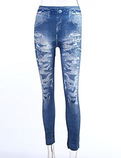 Ženy Denim Legging,Spandex Nylon Střední