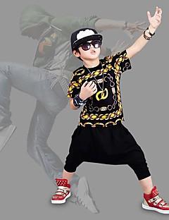 男の子 カジュアル/普段着 ビーチ ホリデー プリント コットン セット 夏 半袖 アンサンブル
