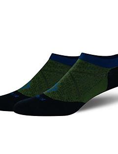 남성의 양말 캠핑 & 하이킹 피싱 운동&피트니스 레저 스포츠 달리기 통기성 착용 가능한 공전방지 땀 흡수 기능성 소재 편안함 봄 여름 가을 그린 그레이 다크 블루L