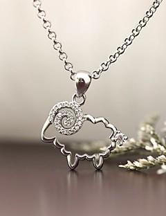 Vedhæng Sølv Simuleret diamant Enkelt design Dyredesign luksus smykker Smykker For Daglig Afslappet 1 Stk.
