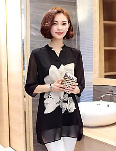 underskrive fedt mm chiffon shirt sommer dyrke vilde lang strækning af store størrelse kvinder chiffon skjorte kvindelige koreanske