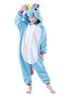 Kigurumi Pyjamas Unicorn Trikot/Heldragtskostumer Festival/Højtider Nattøj Med Dyr Halloween PatchworkCosplay Kostumer Halloweentillbehör