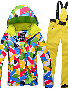 スキーウェア スキー/スノーボードジャケット 洋服セット 女性用 冬物ウェア ポリエステル 冬物ウェア 防水 保温 防風 耐久性 キャンピング&ハイキング スノースポーツ ダウンヒル スノーボード 冬