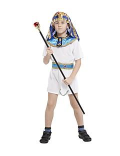 Cosplay Kostumer Egyptiske costumer Festival/Højtider Halloween Kostumer Hvid Ensfarvet Kjole Bælte HovedtøjHalloween Karneval Barnets