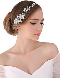 Damen Perle Kristall Legierung Kopfschmuck-Hochzeit Besondere Anlässe im Freien Tiara Stirnbänder Blumen Kopfkette 1 Stück
