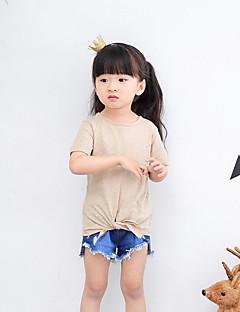 カジュアル/普段着 ビーチ ホリデー ゼブラプリント コットン Tシャツ 夏 半袖 レギュラー