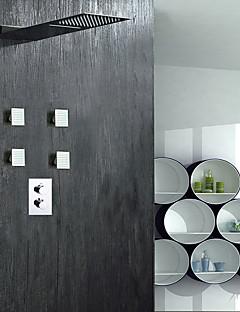 現代風 シャワーシステム レインシャワー ワイドspary with  真鍮バルブ 二つのハンドル4つの穴 for  クロム , シャワー水栓