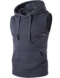 İnce Diğer Kolsuz Kapşonlu Solid Sade Günlük/Sade Siyah Kahverengi Gri Kısa Paltolar