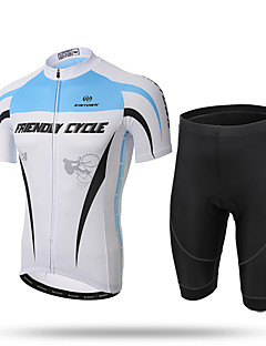 XINTOWN Cycling Jersey with Shorts Men's Short Sleeve Bike Jersey ShortsQuick Dry Front Zipper Breathable Soft Compression 3D Pad