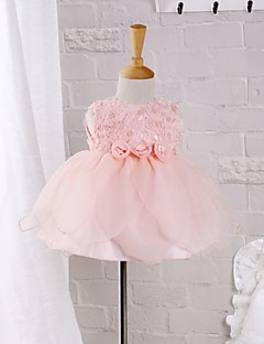 Baby Kleid-Formal Polyester Sommer Rosa