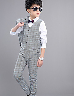 Boys' Formal Striped Sets,Cotton Spring Summer Fall Clothing Set