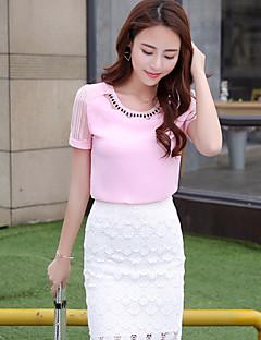 기호 여름 새로운 짧은 소매 쉬폰 셔츠 블라우스 한국어 팬 기질 숙녀 흰색 쉬폰 셔츠