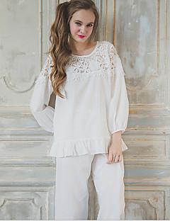 נשים חליפות Nightwear-דפוס אחיד-Medium כותנה נשים