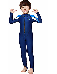 Dive&Sail 男性用 子供用 0.5mm フルウェットスーツ ダイブスキン 速乾性 人間工学デザイン 高通気性 モイスチャーコントロール スパンデックス 潜水服 長袖 ダイビングスーツ-水泳 潜水 春 夏 クラシック