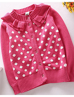 Girls' Casual/Daily Jacquard Sweater & Cardigan,Cotton Spring Fall Long Sleeve Regular