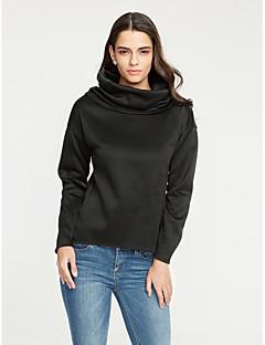 Langærmet Kvinders Hverdag Hættetrøjer Medium Polyester