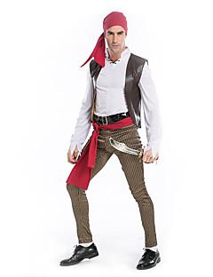תחפושות קוספליי פיראט פסטיבל/חג תחפושות ליל כל הקדושים פסים אפוד עליון מכנסיים חגורה לבוש ראשהאלווין (ליל כל הקדושים) קרנבל יום הילד ראש