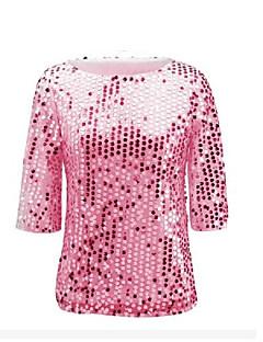 2017ebay AliExpress Amazon Europe beads multicolor sequin jacket sleeve t-shirt women