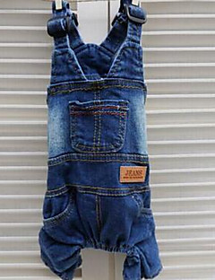 Dog Clothes/Jumpsuit Dog Clothes Summer Jeans Cute Fashion Casual/Daily Dark Blue