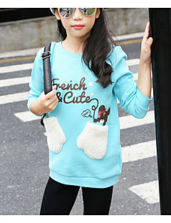 Going out Casual/Daily Solid Blouse,Cotton Winter Fall Long Sleeve