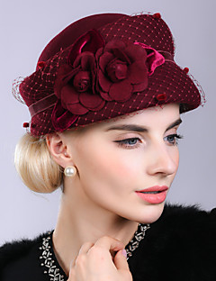 Hat her yarn hat the roses Elegant wool buds cap banquet felt trilby tide restoring ancient ways