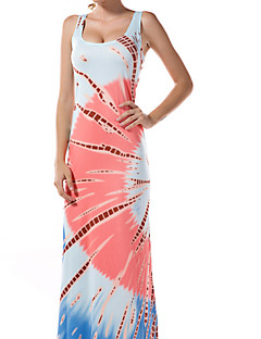 Women's Plus Size Party Holiday Bodycon Dress,Floral Deep U Maxi Sleeveless Others Summer Mid Rise Micro-elastic Medium