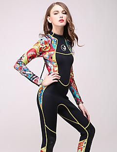 HISEA® בגדי ריקוד נשים 3mm חליפה רטובה מלאה שמור על חום הגוף ייבוש מהיר תומך זיעה כותנה חליפת צלילה שרוול ארוך חליפות צלילה-צלילהאביב