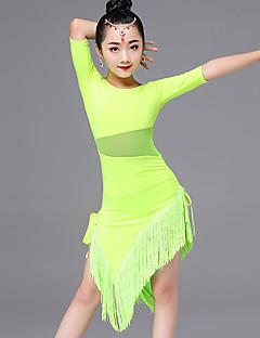 Taniec latynoamerykański Suknie DZIECIĘCE Wydajność Wiskoza Tassel (s) 1 sztuka Half Sleeve Sukienki 63-85,65-86,67-87,69-87