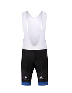 מכנס קצר לרכיבה לגברים אופניים מכנסיים קצרים עם כתפיות דחיסה 3D לוח פוליאסטר רכיבה על אופניים/אופנייים אביב קיץ סתיו לבן שחור