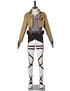 קיבל השראה מ Attack on Titan Mikasa Ackermann אנימה תחפושות קוספליי חליפות קוספליי אופנתי שרוולים ארוכים ל