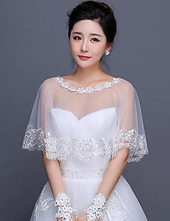 Women's Wrap Capelets Cotton Wedding Appliques