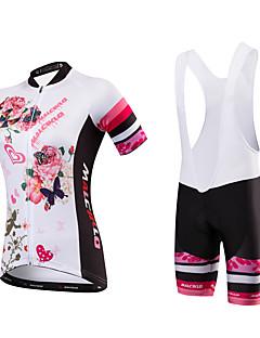 Camisa com Shorts para Ciclismo Mulheres Manga Curta Moto Camisa/Roupas Para Esporte Tights BibSecagem Rápida Design Anatômico Permeável