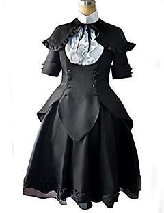 Inspirado por Puella Magi Madoka Magica Fantasias Anime Fantasias de Cosplay Ternos de Cosplay Patchwork Peitilho Vestidos Casaco Capa