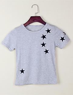 Camiseta Casual Esportivo Escola Estampado Verão Algodão Manga Curta Regular