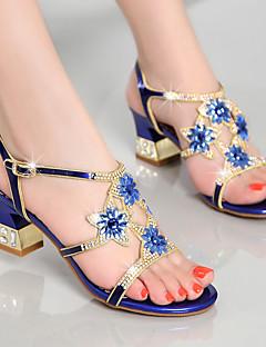 Damă Sandale Pantofi Club Nappa Leather Vară Casual Rochie Party & Seară Pantofi Club Piatră Semiprețioasă Toc Gros Auriu Mov Albastru5 -