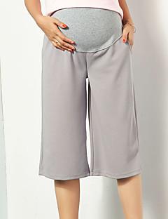 Damă Zvelt Picior Larg Simplu Șic Stradă Talie Inaltă,strenchy Pantaloni Chinos Pantaloni Solid