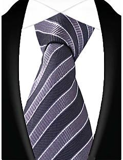 Férfi Csíkos Vintage Party Munkahelyi Alkalmi Nyakkendő