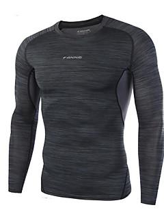 בתוספת גודל 3xl גברים של אופנה כותנה חולצות ארוכות שרוול מהיר יבש סביב חולצת הצוואר
